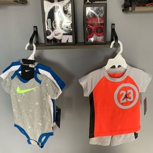 Lot of brand new Jordan and Nike infant clothing